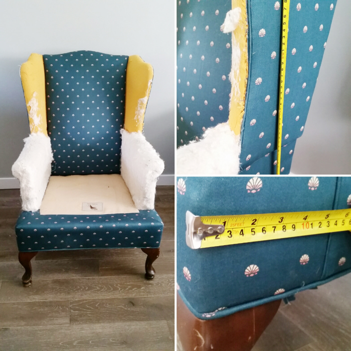 Attirant How To Reupholster A Wing Back Chair