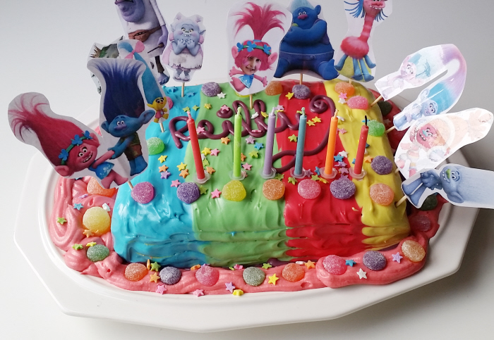 Diy Troll Birthday Cake Toppers By Confessions Of A Refashionista