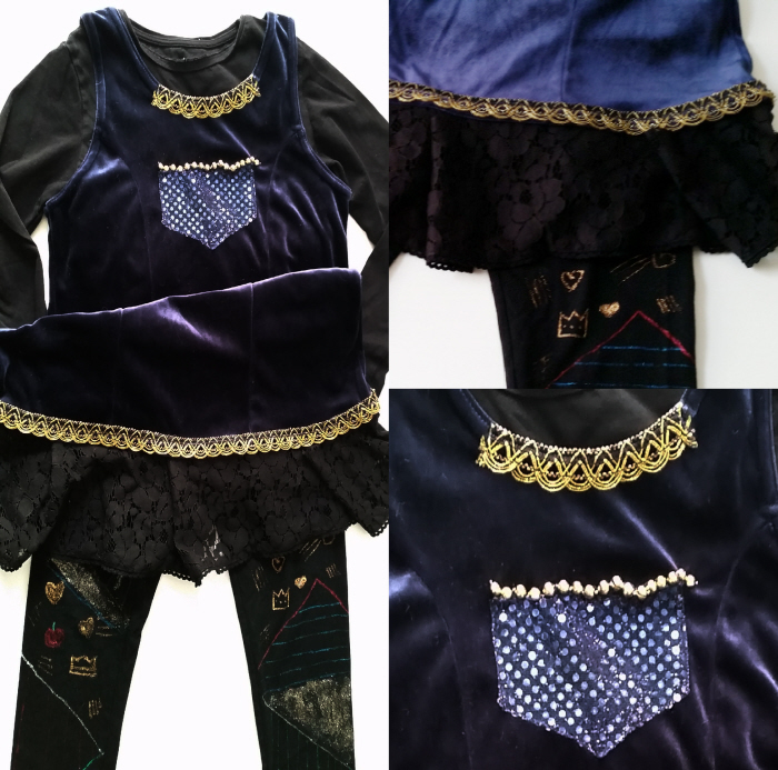 Thrifted DIY Descendants Evie Costume by Confessions of a