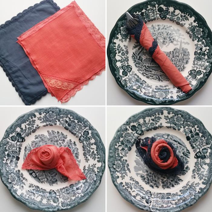 Easy No Sew DIY Fabric Napkins 1