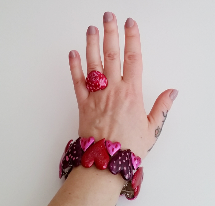 Easy DIY Valentine Jewellery Set Refashion
