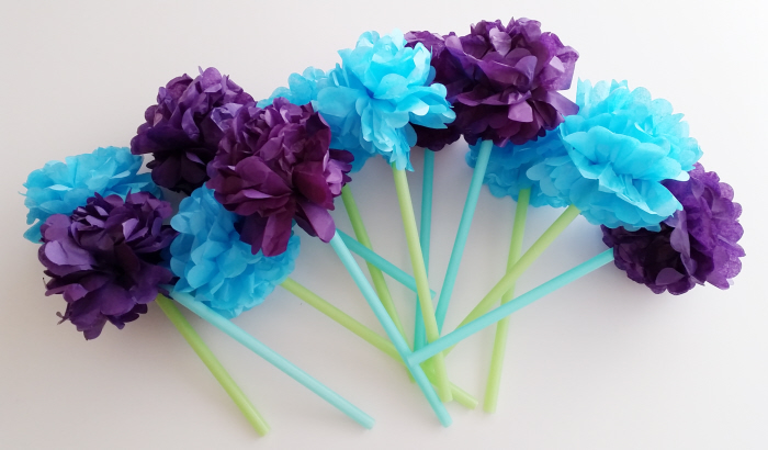 DIY Tissue Flower Bouquet - an upcycled straw tutorial by Sheri Pavlovic