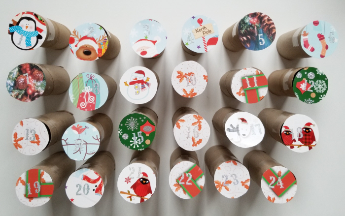 An Easy Upcycled DIY Advent Calendar ~ Confessions of a